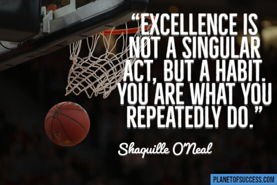 Excellence is not a singular act quote