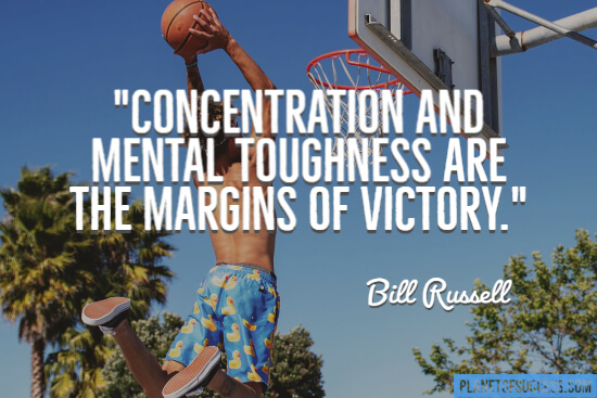 Bill Russell quote about concentration and mental toughness