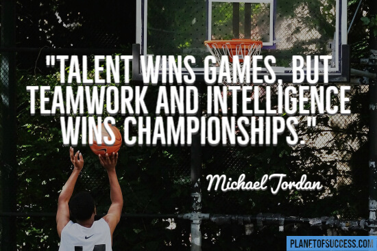 Michael Jordan basketball quote on talent