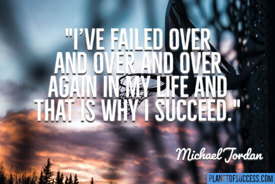 I've failed over and over
