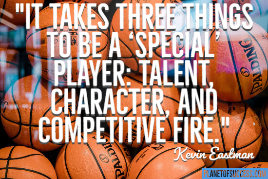 Three things to be a special player