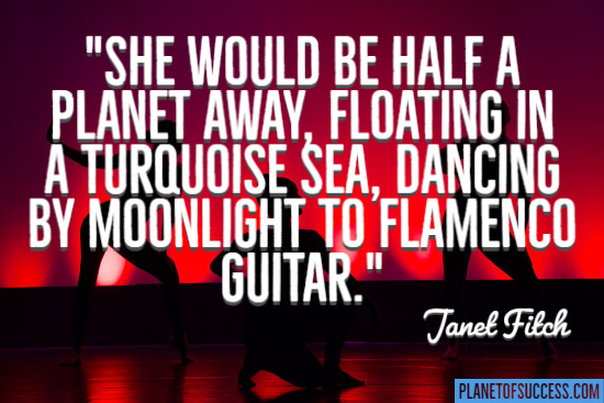 She would be half a planet away