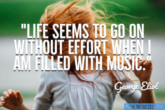 Life seems to go on without effort