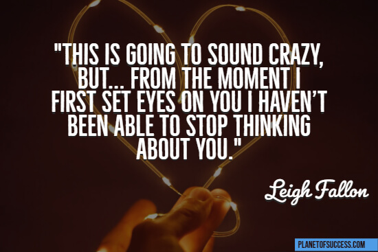 Haven't been able to stop thinking about you quote