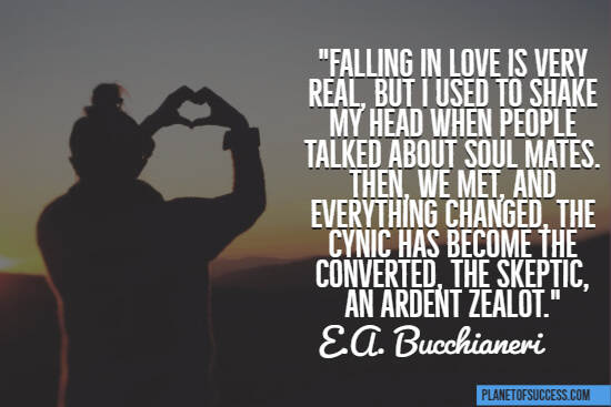 Falling in love is real quote