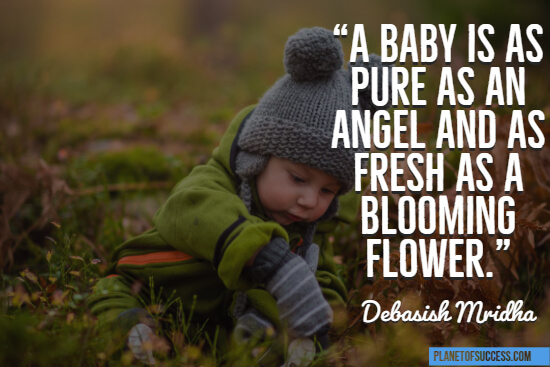 A baby is as pure as an angel quote