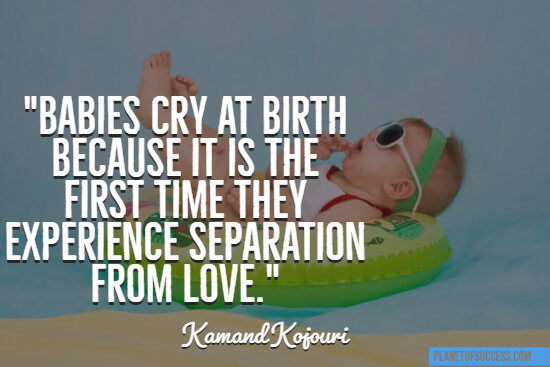 Babies cry at birth quote