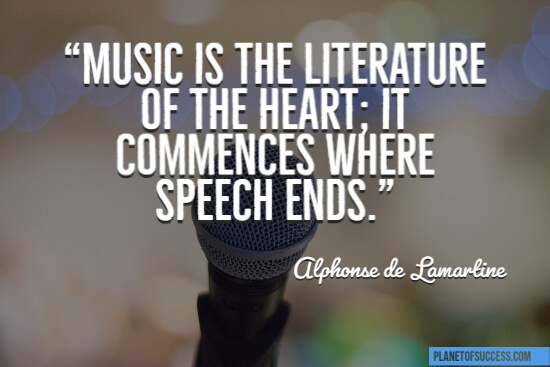 Music is the literature of the heart quote