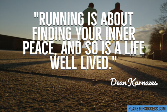 Running is about finding your inner peace quote