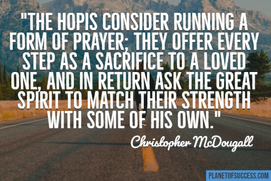 Running as a form of prayer quote