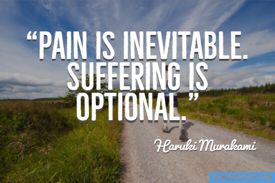 Quote about running and pain