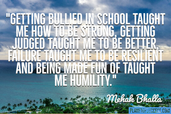 Being bullied in school quote