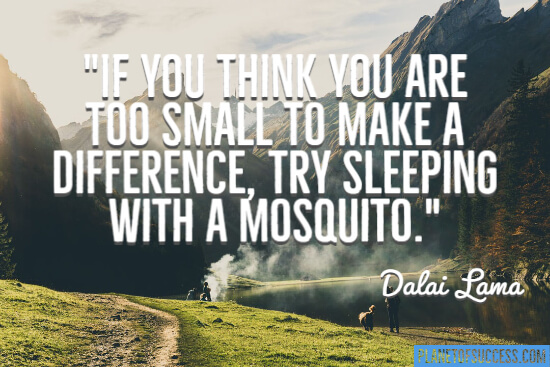 Too small to make a difference quote