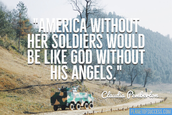 America without her soldiers