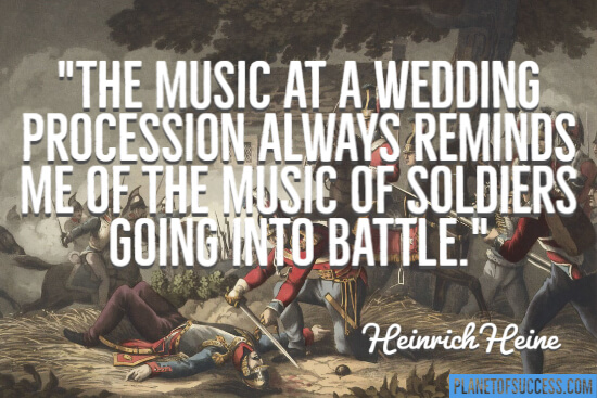 The music at a wedding procession