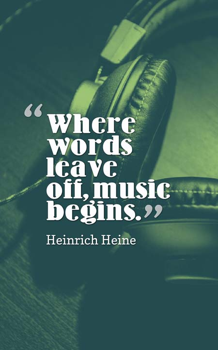 Quotes Music Simple The 101 Most Inspiring Quotes About Music  Planet Of Success