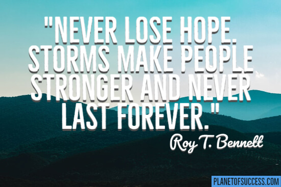 Never lose hope quote