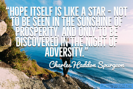 Hope itself is like a star quote