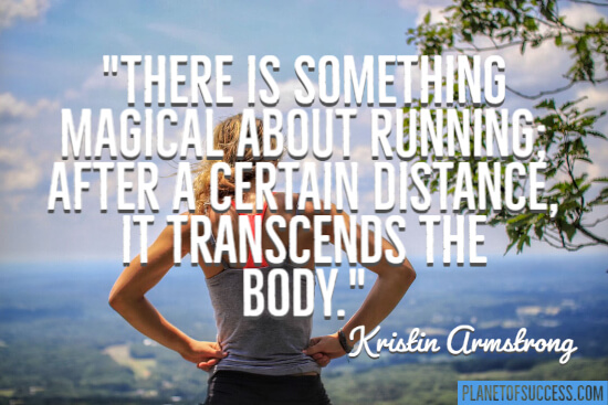 Something magical about running