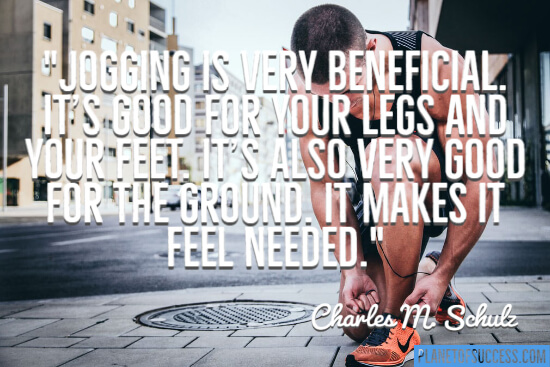 Jogging is very beneficial
