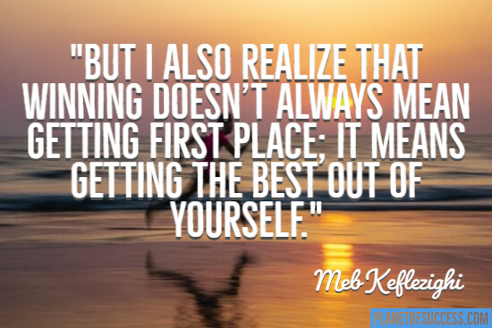 Getting the best out of yourself