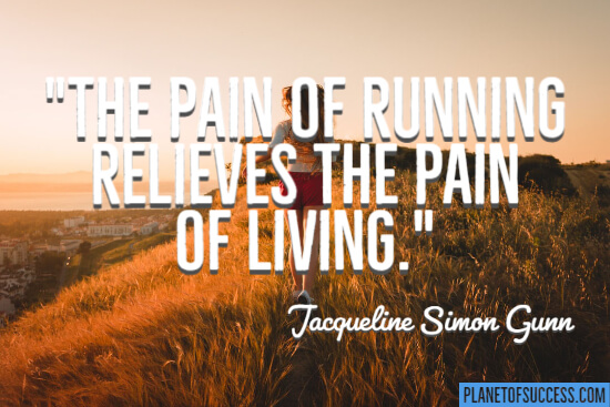 The pain of running