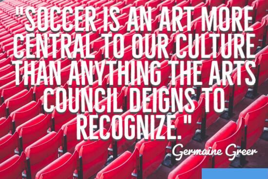 Soccer is an art