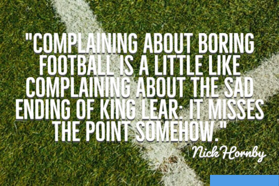 Complaining about boring football