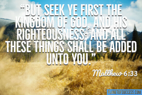 Seek the kingdom of God quote