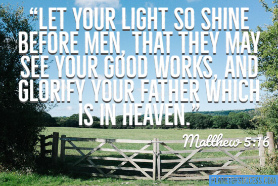 Let your light so shine before men quote