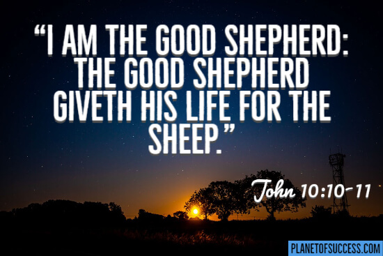 I am the good shepherd quote by Jesus