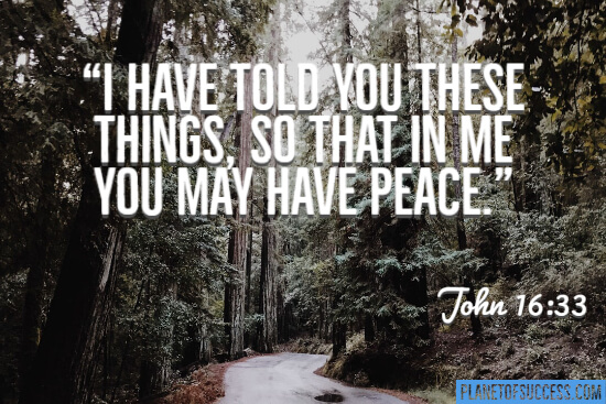 I have told you these things so that in me you may have peace quote