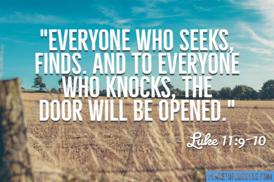 Everyone who seeks finds quote by Jesus