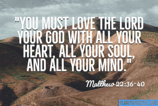 You must love the Lord