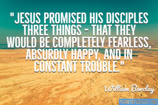 Jesus promised his disciples