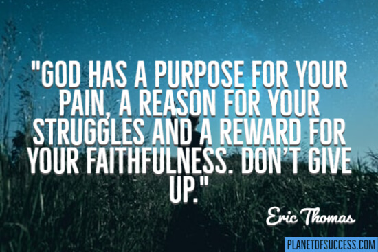 God has a purpose