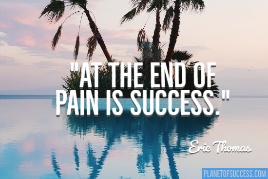 At the end of pain