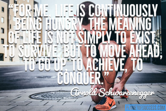 Arnold Schwarzenegger fitness quote