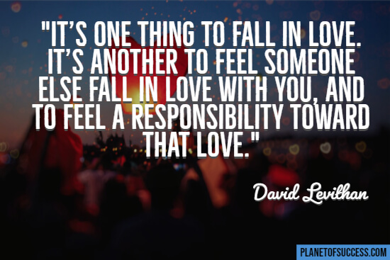It's one thing to fall in love quote