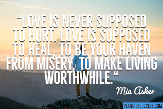Love is never supposed to hurt