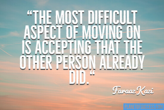 The most difficult aspect of moving on
