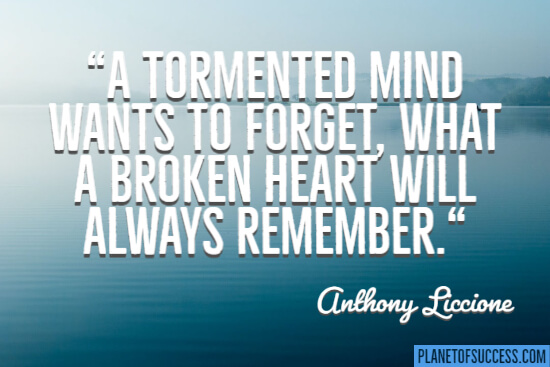 A tormented mind