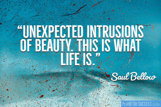 Unexpected intrusions of beauty this is what life is quote