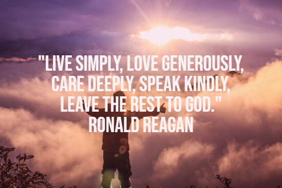 Reagan quote about love