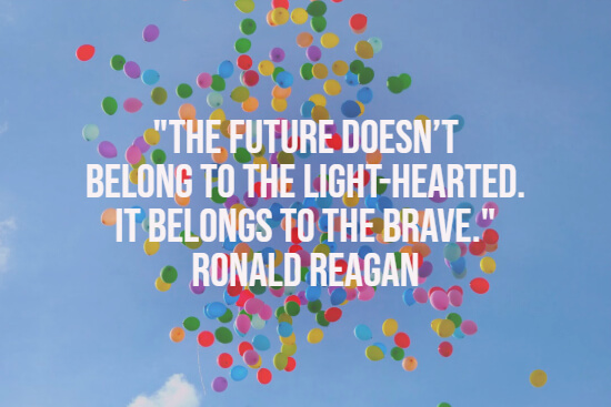 Reagan quote about the future