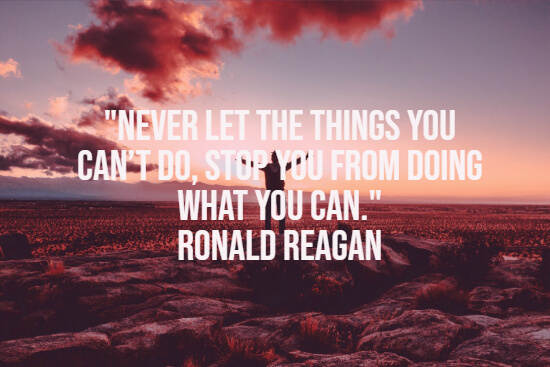 Ronald Reagan about things you can do