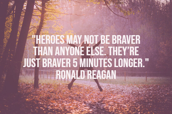 Ronald Reagan on heroes