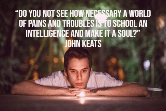John Keats depression quote