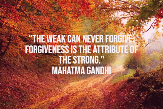 The strength of forgiving