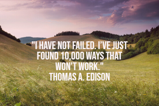 Edison about failure